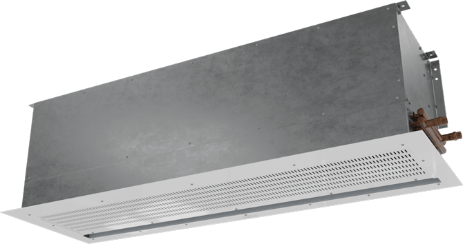 CHA-ST - Chameleon Vestibule Exception (CHA-ST) Above Ceiling Steam Heated Air Curtains