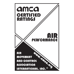 ETA-3-120E Air Curtain | AMCA Certified Badge